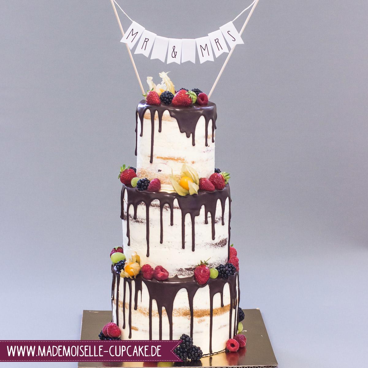 Drip Cake Hochzeitstorte Mademoiselle Cupcake