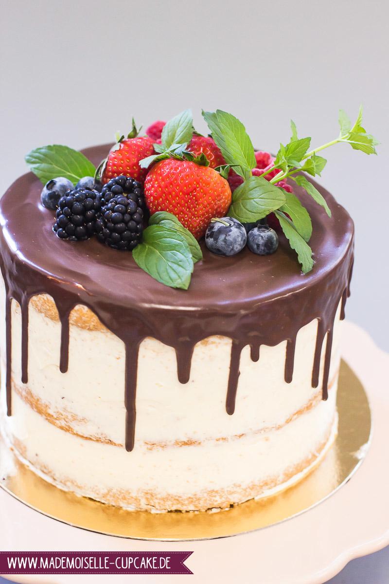 Drip Cake Hochzeitstorte - Mademoiselle Cupcake