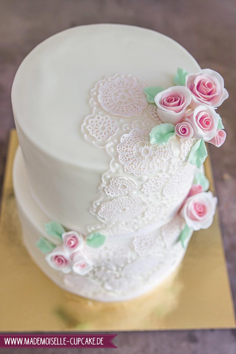 Spitzenmuster Mit Rosen Mademoiselle Cupcake
