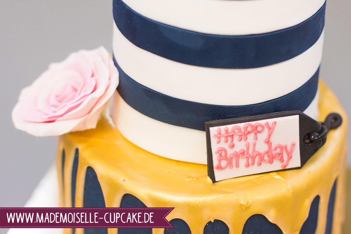 Drip Cake Gold Handtasche - Mademoiselle Cupcake